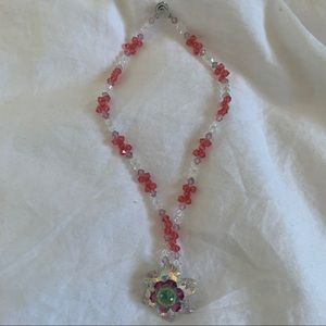 Handmade Swarovski Crystal Flower Necklace